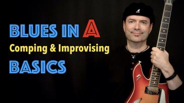 Blues in A - comping & improvising - Basics