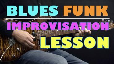 Blues Funk (Am) - Improvisation - Lesson