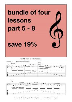 How to improvise - Bundle - Lessons Part 5 - 8  (C Moll)