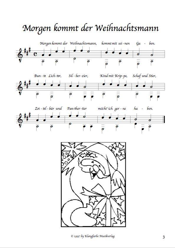 Klangfarbe Musikverlag Noten Shop - leichte Weihnachtslieder für ...